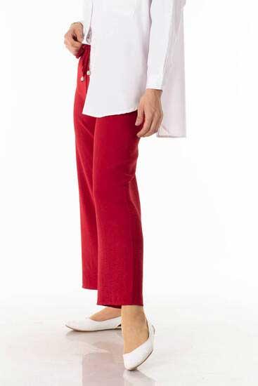 TBT Tekstil - Bağcıklı Kırmızı Ayrobin Pantolon Tbt1446-2 (1)