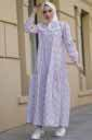 Bebe Yaka Krem Tesettür Elbise Nfc5042-3 - Thumbnail
