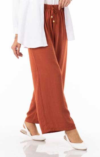 Algı - Beli Lastikli Salaş Pantolon Alg2045-8 (1)