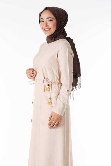 Shrup - Cep Detay Taş Tesettür Elbise Shp5100-1 (1)