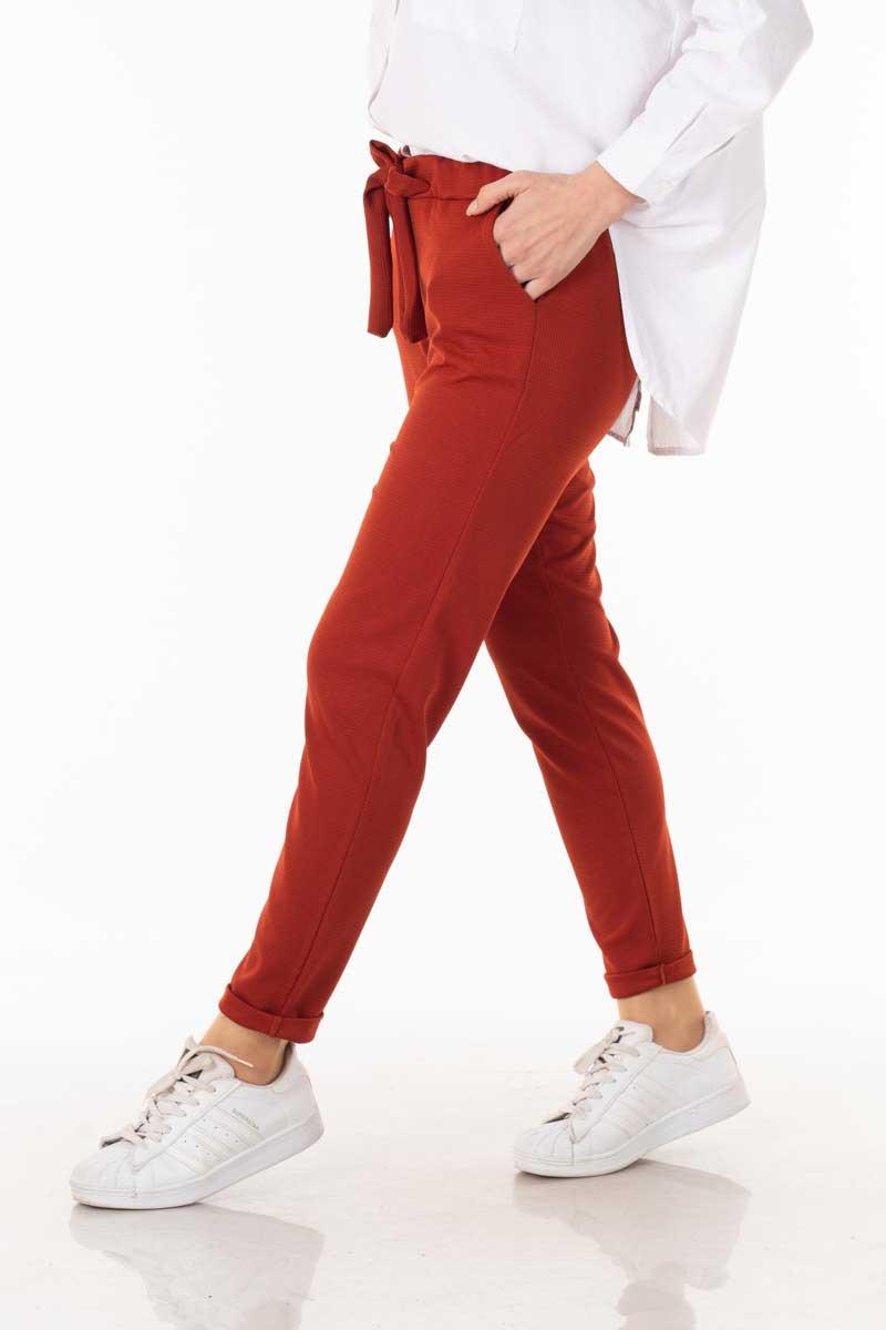 Cepli Kuşaklı Kiremit Mira Pantolon Nfc1108-10