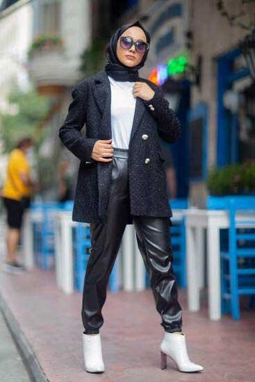 TBT Tekstil - Deri Siyah Pantolon Tbt278-1 (1)