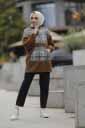 Kazayağı Peluş Kahve Toptan Tesettür Tunik Mst19135-1 - Thumbnail