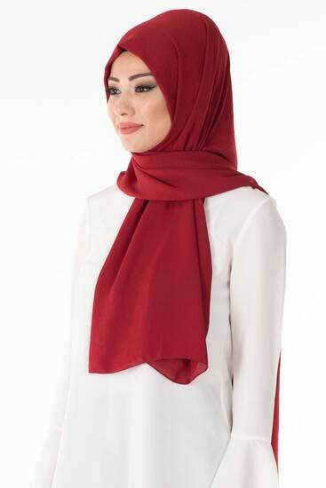 Eyfel - Kırmızı Cazz Şal Eyf2950-5 (1)