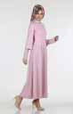 Kolu Güpürlü Kuşaklı Elbise 266-03 - Thumbnail