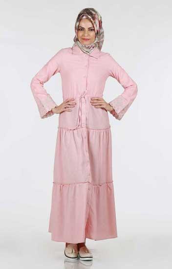 Kolu Nakışlı Elbise 264-04