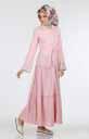 Kolu Nakışlı Elbise 264-04 - Thumbnail