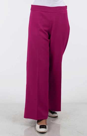 Morpery - MP Geniş Paça Likralı Pantolon 308-01 Fuşya (1)