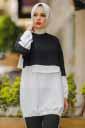 Renkli Siyah Tesettür İkili Takım Nsa6669-3 - Thumbnail