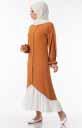 Tesettür Elbise Düğmeli Fırfır Detaylı Hws5155-2 - Thumbnail