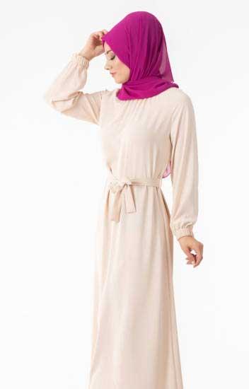 Enderon - Tesettür Elbise Kuşaklı End5026-5 (1)