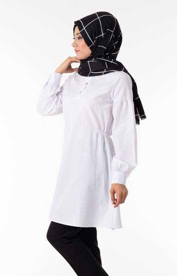 New She Fashion - Tesettür Tunik Düğme Detaylı Nsf1281-5 (1)